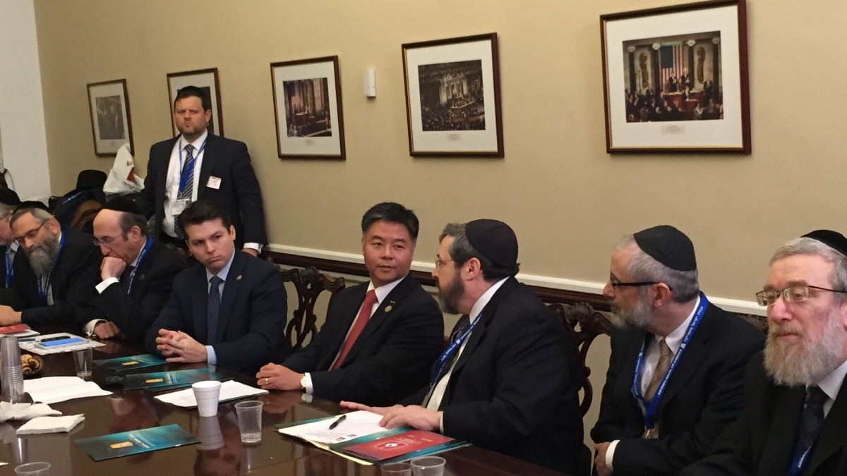 Congressman Ted Lieu meets with Agudath Israel